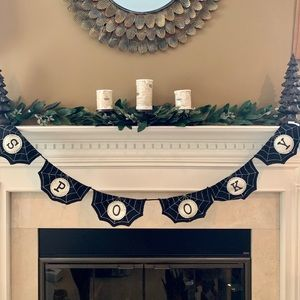 "Halloween Eve ""Spooky"" 6 Foot Fabric Garland New"